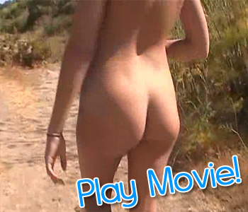 Cute teen naked in public